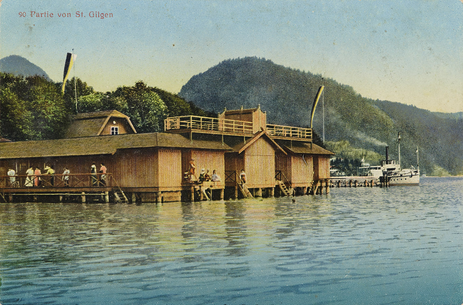 Bootshaus in St. Gilgen am Wolfgangsee, 1907–14, Inv.-Nr. F 23097