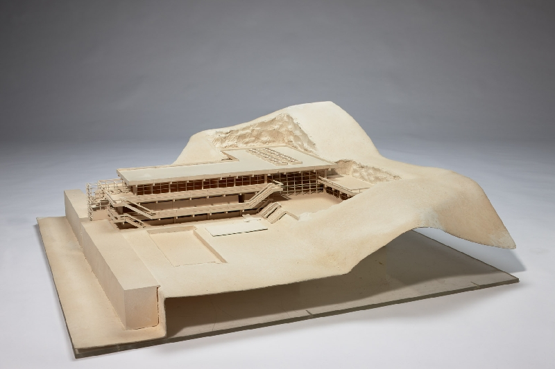 Model for the Felsentherme – thermal baths in the rocks – in Bad Gastein, Gerhard Garstenauer, 1966, wood, plastic, inv. no. 12631-2010