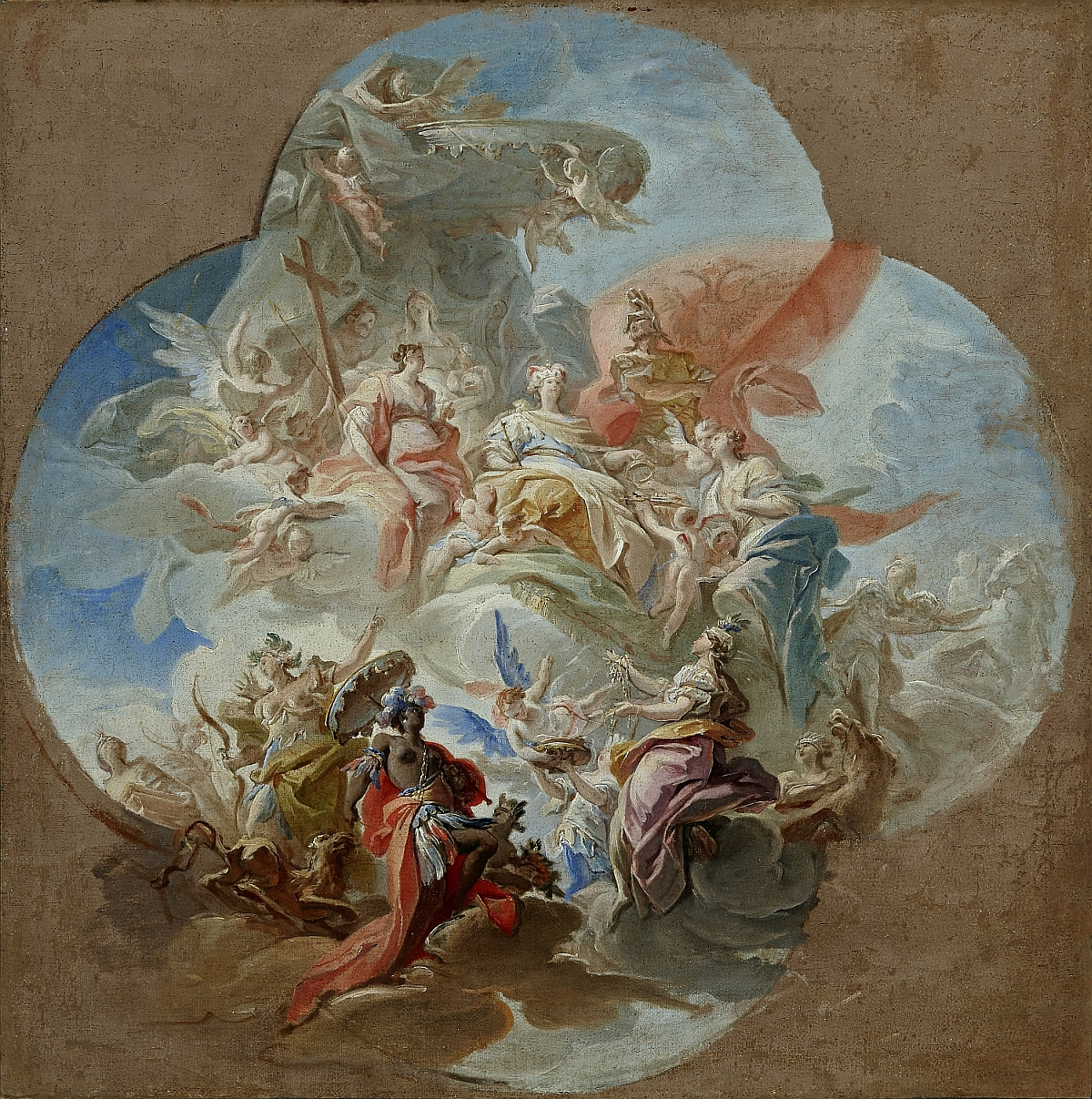 Austria Receives Homage from the Land of Upper Austria, Carlo Innocenzo Carlone, oil on canvas, inv. no. RO 0374; modello for a ceiling fresco (1717) in the Linz Landhaus (destroyed)